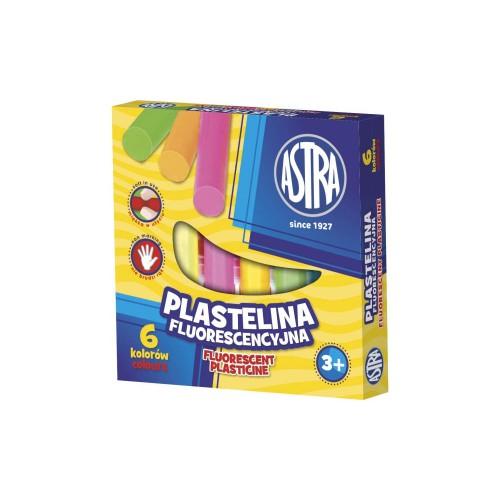 PLASTELINA 6 KOLORÓW FLUORESCENCYJA ASTRA