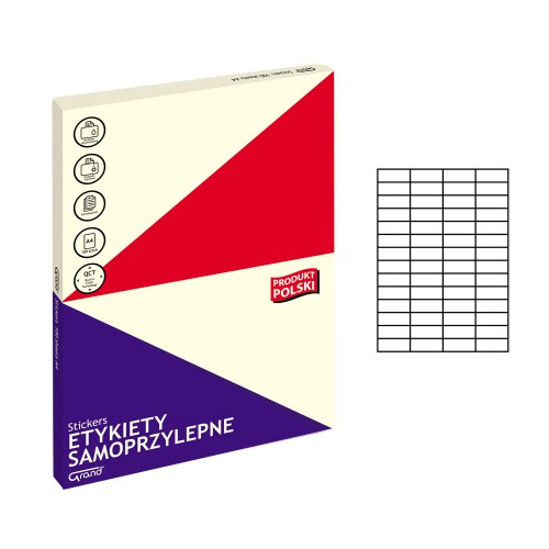 ETYKIETY SAMOPRZYLEPNE 004 52,5X21,2/56 GRAND