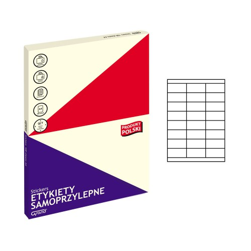 ETYKIETY SAMOPRZYLEPNE 011 70X33,8/24 GRAND