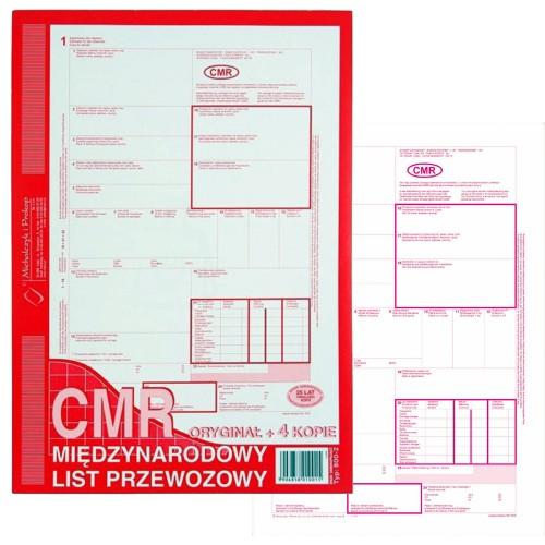 LIST PRZEWOZOWY CMR A4 (ORGI+4 KOPIE) 800-2