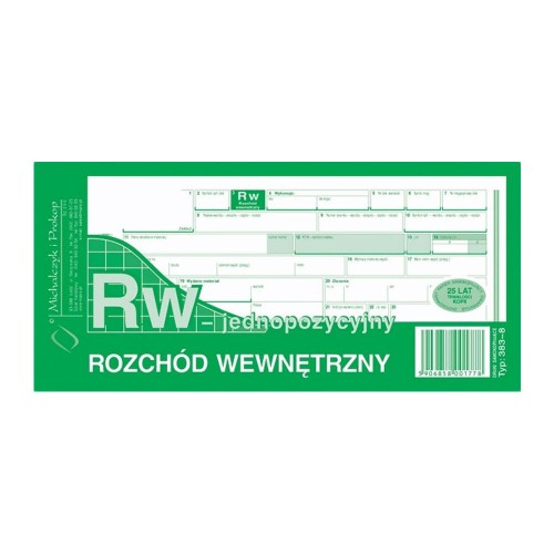 RW 1/3 A4 JEDNOPOZYCYJNE 383-8