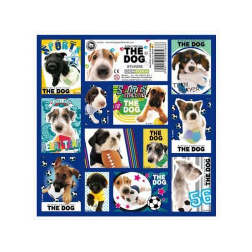 NALEPKI 16X16 THE DOG