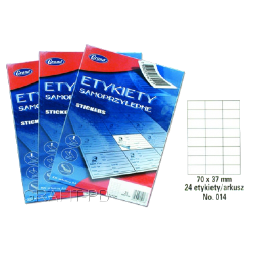 ETYKIETY SAMOPRZYLEPNE 014 70X37/24 GRAND