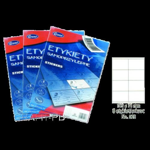 ETYKIETY SAMOPRZYLEPNE 028 105X70/8 GRAND