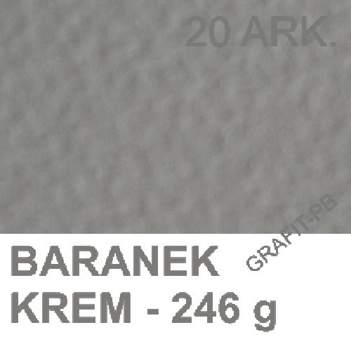 KARTON WIZYTÓWKOWY BARANEK KREM 246g/m2 A-4 A'20