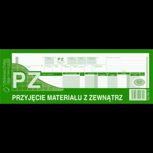 PZ PRZYJĘCIE MATERIAŁÓW 1/2 A4 362-0