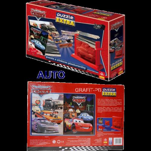 PUZZLE EXTRA 2X50 AUTA CARS 3D TREFL PT-35902