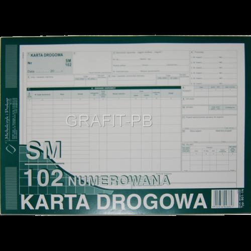 KARTA DROGOWA SAMOCHODÓW CIĘŻA. A4 801-1NUMER