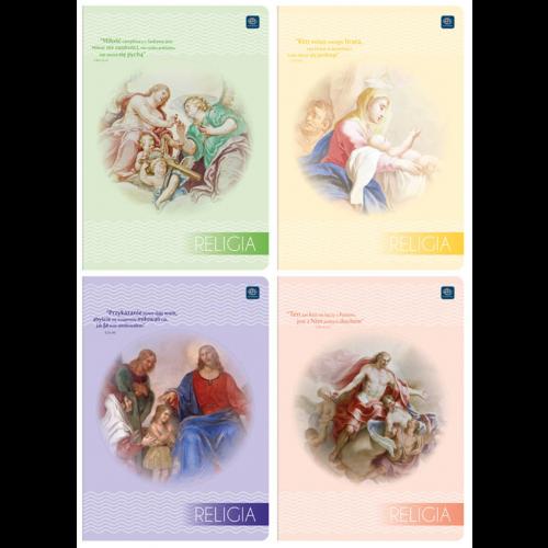 ZESZYT A5 32 KARTEK KRATKA INTERDRUK RELIGIA